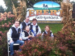 Ebert Enterprises, Algoma, WI, has been named the host of the 2017 Wisconsin Farm Technology Days show. Pictured are Randy and Renee Ebert and their children Jordan, Britney, and Whitney.
